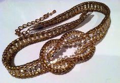 Snake Skin Style GOLD Plated Mesh Articulated Sparkling Rhinestone Knot tie Necklace Authentic Vintage Jewelry artedellamoda talkingfashion by talkingfashionnet on Etsy https://www.etsy.com/se-en/listing/165197171/snake-skin-style-gold-plated-mesh