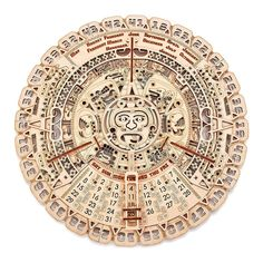 Puzzles 3d, Wooden Puzzles, Wooden Toys, Brain Teasers For Adults, Wooden Calendar, Calendar Wall, Wooden Model Kits, Creative Thinking Skills, Aztec Calendar