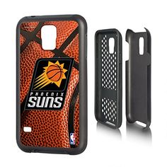 Phoenix Suns Galaxy S5 Rugged Case officially licensed by the NBA for the Samsung Galaxy S5 by keyscaper Durable Two Layer Protection Shock Absorbing * Click image for more details.