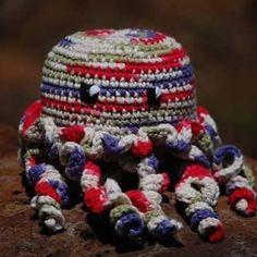 My crochet Octopus or Jellyfish. Isn't he cute? #crochet #crocheting #crochetlover #instacrochet #ilovecrochet #crochetersofinstagram #yarn #yarnporn #yarnlove #cotton #toys #softie #plushie #sensorytoys #octopus #jellyfish #undersea #seacreature #funwithyarn #babytoys #baby #amigurumi #crochettoys #crochettoy by wersoto