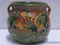 Scarce Vintage Roseville 1930s Blackberry 4 In Jardiniere Pottery Flower Pot