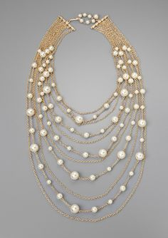 On ideel.com only 19 Hours left to buy at this price! LOLITA Multi-Row Faux Pearl Statement Necklace