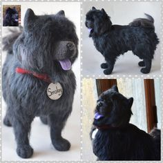 Custom Needle Felted Dog Chow Chow Sculpture Pet by WoolArtToys