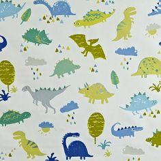 Dino Denim Curtains