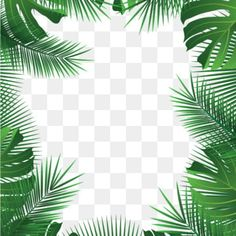 Fleurs tropicales quitte la plage cadre PNG et Vector Watercolor Leaves, Watercolor Background, Floral Watercolor, Frame Floral, Flower Frame, Flamingo Png, Adobe Illustrator, Fruits Decoration, Tropical Frames