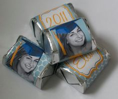 Personalized graduation mini candy bar wrappers