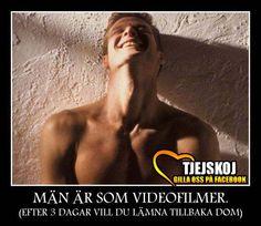 Män är som videofilmer