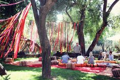 looks vaguely like a new-age sit in, but I love the ribbon effect. Cool decor! marrakech. by Sandra Beijer, via Flickr