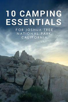 10 Camping Essentials for Joshua Tree National Park, California, USA