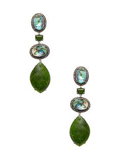Abalone & Chrome Diopside Earrings from Jewelry by Style: Bold & Colorful on Gilt