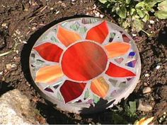 Create a colorful stained glass design and preserve it in concrete with these simple step-by-step instructions from HGTV.com.
