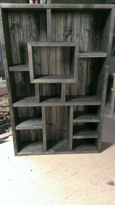 Shadowbox Shelving Unit Stained Ebony