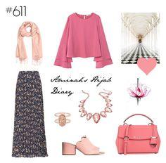 """#611 Full of Love"" by aminahs-hijab-diary ❤ liked on Polyvore featuring MANGO, H&M, MICHAEL Michael Kors, Thalia Sodi, Kendra Scott, Oxford and Lancôme"