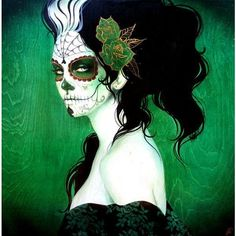 Celebrate Day of the Dead With Some Hauntingly Beautiful Artwork ❤ liked on Polyvore featuring home, home decor, contemporary home decor and inspirational home decor