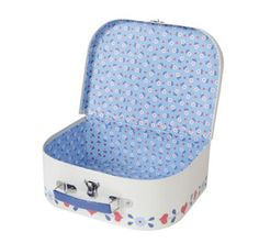 Set of 3 Owl Suitcases. Folk Heart Owl. By Sass & Belle. Storage boxes.Brand New  Visit....The Ginger Sheep...£14.99