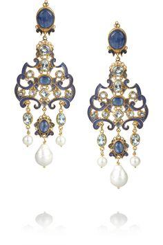 Percossi Papi | Gold-plated multi-stone earrings | NET-A-PORTER.COM