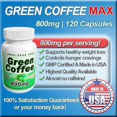 Green Coffee Extract 800mg, Highest Quality, 120 Capsules, Natural Weight Loss, 50% Chlorogenic Acid, 800mg Per Serving by Eden Pond Labs, http://www.amazon.com/dp/B008ZIVNDM/ref=cm_sw_r_pi_dp_.hVsrb0DS56TK