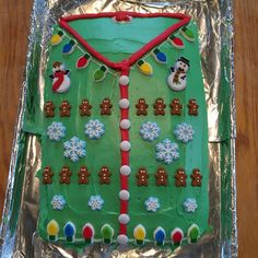 Ugly Christmas sweater cake