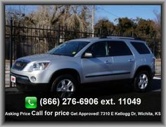 2010 GMC Acadia SL SUV  Black Bumpers, Clock: In-Radio Display, Daytime Running Lights, Variable Intermittent Front Wipers, Tires: Profile: 65, Front And Rear Suspension Stabilizer Bars, Tires: