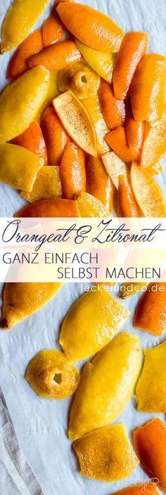 Orangeat und Zitronat ganz einfach selbst machen aus nur 4 Zutaten!