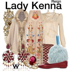 Inspired by Caitlin Stasey as Lady Kenna on Reign.