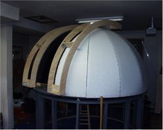 Construction of Bear Creek Observatory Astronomical Observatory, Garden Projects, Diy Projects, Geodesic Dome, Star Party, Stargazing, Woodworking Shop, Telescope, Construction