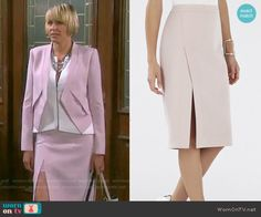 Nicole's pink skirt on Days of our Lives.  Outfit Details: http://wornontv.net/52227/ #DaysofourLives