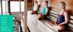 Relaxing sauna yoga