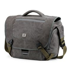 """BAGSMART Camera Messenger Shoulder Bag for SLR/DSLR Cameras & 15.6"""" Macbook Pro 15.5L. Grey"""