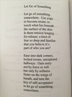 Let go of Something - Tina Stanley
