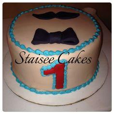 Mustache Smash Cake