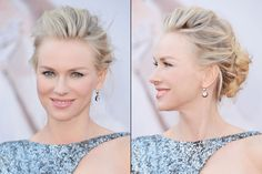Thoroughly Modern Wedding Updo Ideas: Swept-back chignon