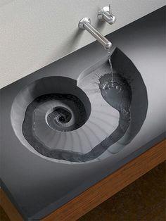 Futuristic. Fibonacci spiral
