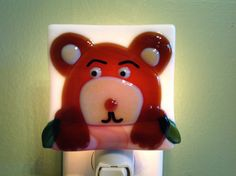 Fused Woodland Brown Bear Night Light