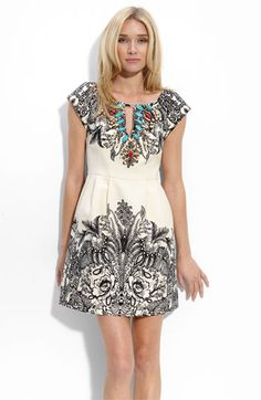 Nanette Lepore Keyhole Embellished Dress