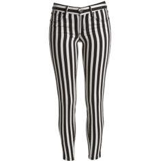 Bardot Stripe Jean (140 AUD) found on Polyvore