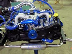 You can sure make a Subaru engine look pretty, I definitely consider this as an evolution of the VW boxer engine - Subaru Wrx, Subaru Forester, Porsche 356, Motor Kombi, Vw Bus T2, Vw Volkswagen, Wrx Engine, Transporter T3, T6 California