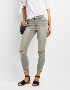 a7df104b64e New jeans that look and feel like old jeans are so in. #CharlotteRusse High