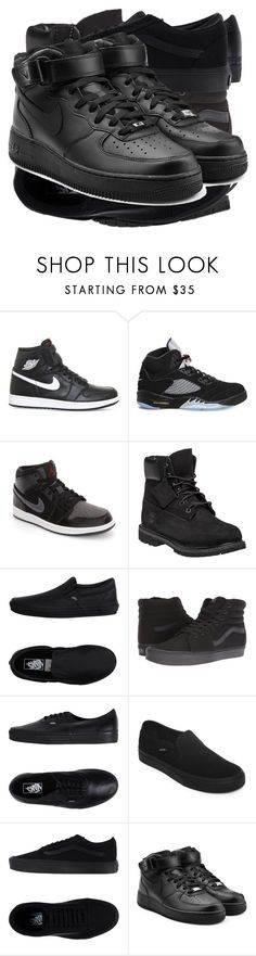 """""""Shoes. Are you kidding me?! SHOES?!?!?????!!!!!!"""" by itsmek8 ❤ liked on Polyvore featuring Retrò, NIKE, Timberland and Vans"""