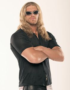 Edge (in his younger wrestling days and before he cut the long tresses): Forever the Rated R Superstar
