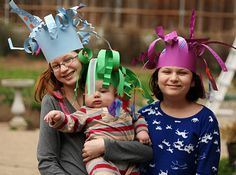 We're huge Dr. Seuss fans in this house – aren't you? We love the over-the-top, zany worlds and characters that fill the pages of his books. Since Dr. Seuss's birthday is coming up on March 2, we decided to turn ourselves into silly Seuss-inspired characters by making our own crazy paper hats. These wild hats …