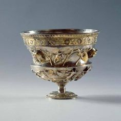 Silver cup from the early Roman period, 27 BCE. Collectie Gelderland, The Netherlands.