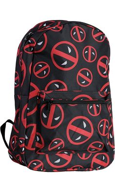 Marvel Deadpool Symbol Logo All Over Print Backpack Best Price