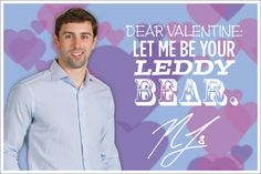 Let Nick be your Leddy bear. #BlackhawksValentinesDay