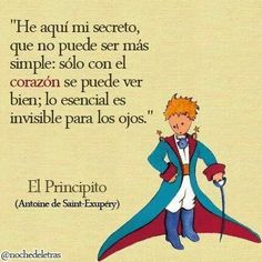 """This phrase from """"The Little Prince"""" book by Antoine de Saint- Exupéry shows that material things are not the most important. Dreams come first than achievements. Book Quotes, Me Quotes, Famous Quotes, Qoutes, The Little Prince, More Than Words, Spanish Quotes, Wise Words, Favorite Quotes"""