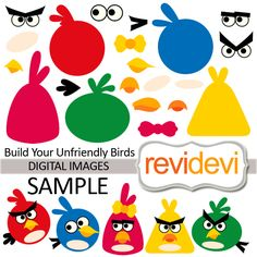 21 fun elements to play with! Create your own birds! How cool! You can create unlimited designs, so much fun to do! These elements are perfect for any craft and creative projects (stationery, cards, & much more possibilities). Also great for kids activities (games, etc)  Formats: PNG (300dpi, transparent background), and JPG (300dpi)  Individual images
