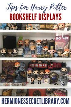 Harry Potter Display, Harry Potter Decor, Harry Potter Jokes, Home Decor Bedroom, Bookshelves, Create, Fun, Bookcases, Book Shelves