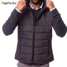 Férfi vékonyan tömött mellény, két cipzáras zsebbel az oldalán, gumi címkével az elején, belső zsebbel, állítható alja bőséggel. Anyaga: kívül: 100% poliészter, lightweight, belül: 100% nylon. Méret: XL Winter Jackets, Fashion, Winter Coats, Moda, Winter Vest Outfits, Fashion Styles, Fashion Illustrations