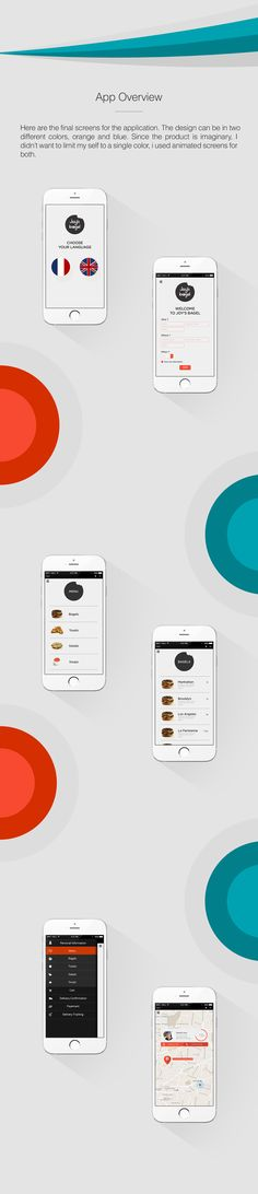UX-UI Concept for a delivery service.