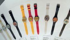 First SWATCH watches from the early 1980s | Founder and CEO  Nicolas George Hayek | Head office Biel/Bienne, Switzerland